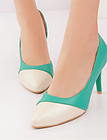 Women's Shoes Leatherette Stiletto Heel Heels Heels Wedding / Party & Evening / Dress / Casual Green / Pink / Beige