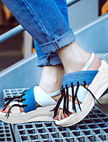 Women's Shoes Wedges / Heels / Peep Toe / Platform Sandals / Heels Outdoor / Dress / Casual Black / White/852