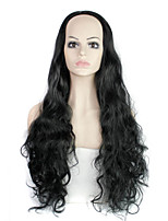 Long Length Hair European Weave Black Color Hair Synthetic Wig