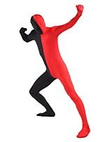 Unisex Multi-Color Zentai Suits Lycra / Spandex Black & Red Zentai