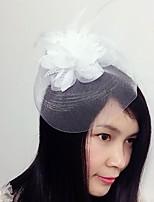 結婚式 / パーティー 成人用 羽毛 / ネット かぶと ヘッドドレス 1個