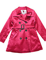 Veste & Manteau Fille de Hiver / Printemps Coton Marron / Rouge