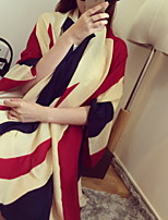 American Stars And Stripes Flag Cotton Muffler Long Oversized Scarf Shawl