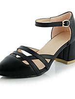 Women's Shoes Leatherette Chunky Heel Heels Heels Casual Black / White / Gray
