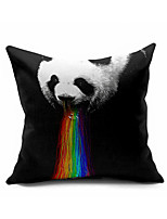 Panda colorful Cotton/Linen Pillow Cover , Nature Modern/Contemporary  Pillow Linen Cushion
