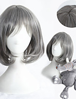 13inch Short Straight Grey Synthetic Anime Lolita Wig CS-284A