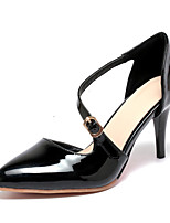 Women's Shoes Patent Leather Stiletto Heel Heels / Pointed Toe Heels Office & Career / Party & Evening / Dress Black
