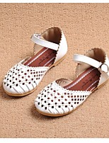Girls' Shoes Dress / Casual Comfort / Closed Toe Faux Leather Sandals Blue / Pink / White