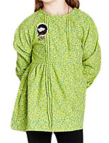 Vestido Chica de-Primavera / Otoño-Algodón-Verde / Amarillo