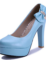 Women's Shoes Stiletto Heel/Platform/Round Toe Heels Party & Evening/Dress Blue/Pink/White