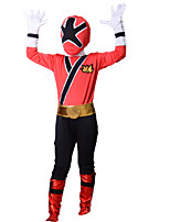 Red Powe Rangers Costume Kids Samurai Cosplay Children Halloween Costumes For Kids Superhero Spandex Bodysuit Zentai