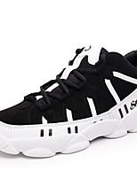 Zapatos de Hombre-Sneakers a la Moda / Zapatos de Deporte-Exterior / Deporte-Poliéster / Tul / Tejido-Azul / Negro y Blanco