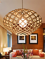12W Vintage LED  Oval-shaped Wood Chandeliers Living Room / Bedroom / Dining Room / Study Room/Office / Hallway