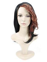 parrucche popolari! squisita lunghezza lunga parrucca sintetica diritta multicolore