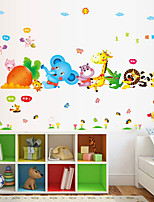 Wall Stickers Wall Decals Style Cute Cartoon Animals Pull Out The Carrot Waterproof Removable PVC Wall Stickers