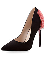 Women's Shoes Leatherette Stiletto Heel Heels Heels Wedding / Office & Career / Party & Evening Black