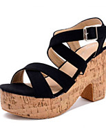 Women's Shoes    Chunky Heel Heels / Open Toe Sandals Outdoor / Casual Black / Beige