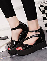 Women's Shoes  Platform Peep Toe Sandals Outdoor / Casual Black / White