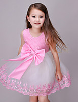 Girl's Pink Dress Polyester Summer / Spring / Fall