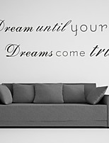 AYA™ DIY Wall Stickers Wall Decals, Dream English Words & Quotes PVC Wall Stickers