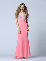 Formal Evening Dress Trumpet/Mermaid Scoop Ankle-length Tulle