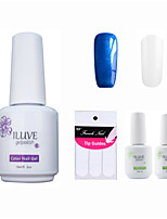 ILuve Franch Gel Nail Polish With Top And Base Coat,Pack Of 4 With Sticker,Long Lasting Soak Off UV Led Gel Varnish #03