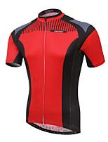 Ademend / Ultra-Violetbestendig / Sneldrogend / wicking / Beperkt bacterieën-Heren-Fietsen / Motorbike-Shirt(Rood) -Korte Mouw