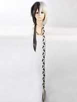 Vocaloid China Project Yuezheng Longya 110cm Men's Extra Long Straight Braid Silver Grey Color Anime Cosplay Full Wig