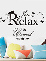 Wall Stickers Wall Decals Style Relax English Words & Quotes PVC Wall Stickers