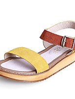 Girls' Shoes Casual Slingback / Gladiator / Round Toe / Open Toe Leather Sandals Yellow / Green