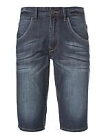 Meters/bonwe Men's Shorts / Jeans Pants Blue-255125