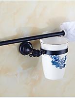 Toiletborstelhouder / Badkamergadget,Neoklassiek Antiek koper Muurbevestiging