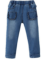 Girl's Blue Pants Cotton Spring / Fall