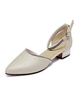 Chaussures Femme-Habillé / Décontracté-Bleu / Rose / Beige-Gros Talon-Talons / Bout Pointu-Talons-Similicuir