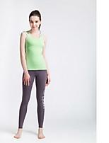 Yoga Pants Fundos Respirável / Secagem Rápida Ajustável Elasticidade Alta Wear Sports Cinzento / Preto Mulheres SMOEDOD Ioga