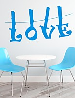 Mots & Citations / Romance / Mode / Abstrait / Fantaisie Stickers muraux Stickers avion,PVC M:42*77cm/ L:55*100cm