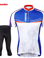Conjuntos de Roupas/Ternos / Shorts / Jersey / Crop(Azul) - deCiclismo-Homens-Respirável / Secagem Rápida / wicking / Tapete 3D / Tiras