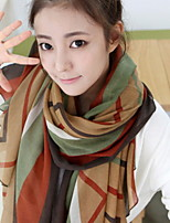 Temperament Plaid Stitching Voile Printed Scarves