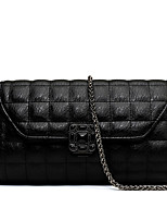 Women PU Flap Shoulder Bag / Satchel-Black