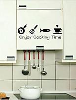 Enjoy Cooking Time Wall Sticker Kitchen Decor Vinyl Wall Quote Home Art Sticker