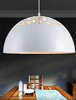 Vintage-Style Minimalist 1 Light Pendant with Carved Shade Study Room/Office, Dining Room, Bedroom Pendant Lights