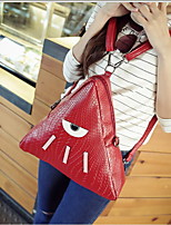 Fashion Women PU / Polyester Triangle Fold Over Clutch Shoulder Bag / Backpack-Multi-color