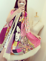 Flash Wild Beauty Pattern Collision Color Comfortable Cotton Scarves Air Conditioning Sunscreen Shawl