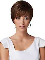 European and American Fashion Wig Brown Natural Straight Short Synthetic Wig