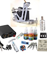 basekey tattoo kit jh562 1 machine met stroomaansluiting grips 3x10 ml inkt