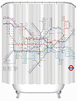 Modern London Subway Map Shower Curtains W71
