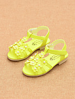 Girls' Shoes Dress / Casual Comfort / Open Toe Sandals Green / Pink / White