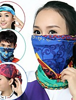 Sun Towel Turban Riding Bike Mask Outdoor Cold Wind Dust Cycling Headwear  Bicycle Masks(Ramdon Color)