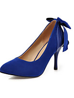 Women's Shoes Fleece Stiletto Heel Heels Heels Wedding / Party & Evening / Dress Black / Blue / Red