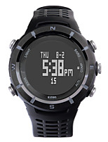 Sports Watch Men'sLCD / Altimeter / Compass / Pulse Meter / Thermometer / Calendar / Chronograph / Water Resistant / Dual Time Zones /